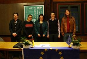Unser Vorstand v.l.n.r.: Marc-Oliver Buck, Corinna Voß, Verena Pfleiderer, Markus Pfleiderer, Ulrich Zorn