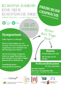 Plakat Freiburger Gespräche 2016