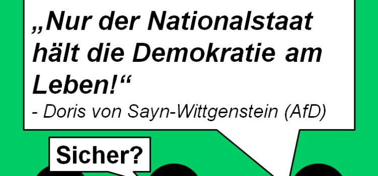 Nur der Nationalstaat hält die Demokratie am Leben! Wirklich?