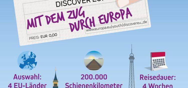 Kostenlos durch Europa – DiscoverEU: 15.000 Travel-Pässe an junge Europäer