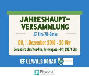 Jahreshauptversammlung JEF Ulm